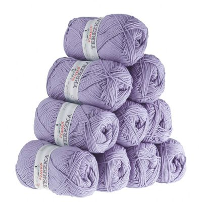 10 x 50g Strickgarn TEREZKA 100% Baumwolle, 155m – Bild 15