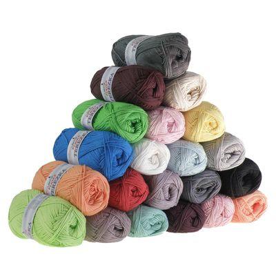10 x 50g Strickgarn TEREZKA 100% Baumwolle, 155m – Bild 1