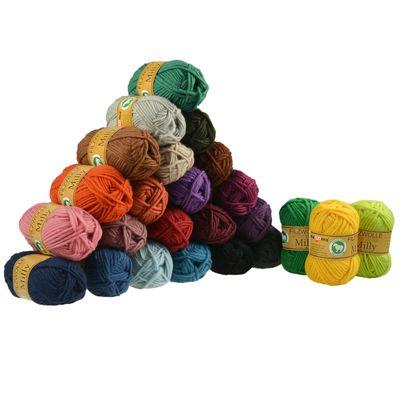 50g Filzwolle Milly Twisted 100% Wolle, filzen, Stricken, Strickfilzen, Farbwahl – Bild 1