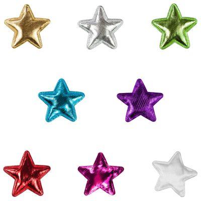 10 Sterne Dekoration Ø30mm, Streudeko, Zierapplikation, verschiedene Farben – Bild 1