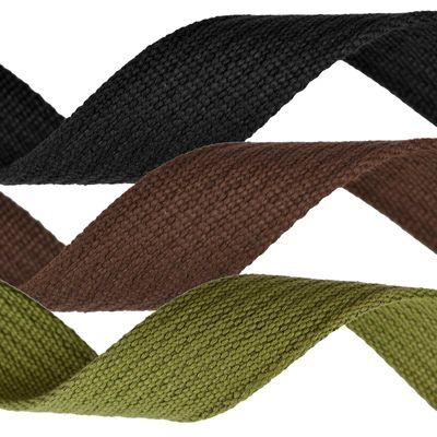 25m Gurtband, 30mm, 3mm stark, 100% Baumwolle, Farbwahl