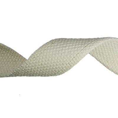 1 Meter Baumwoll Gurtband 30mm breit, 3mm stark, naturfarben