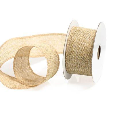 9m edles Dekoband mit glänzenden Metallfäden, 50mm Geschenkband, Farbwahl – Bild 2