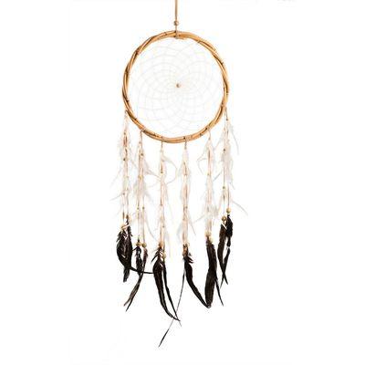 Großer Traumfänger Dreamcatcher Rattanring Länge 97cm, XXL gute Träume Indianer