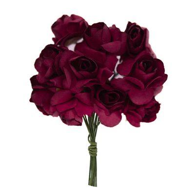 4 Bündel je 12 Rosen Röschen, Länge 7cm, Dekoration, Floristik, Farbe wählbar – Bild 14