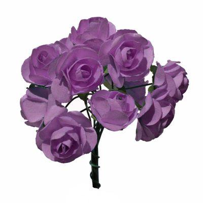4 Bündel je 12 Rosen Röschen, Länge 7cm, Dekoration, Floristik, Farbe wählbar – Bild 11