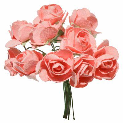 4 Bündel je 12 Rosen Röschen, Länge 7cm, Dekoration, Floristik, Farbe wählbar – Bild 4