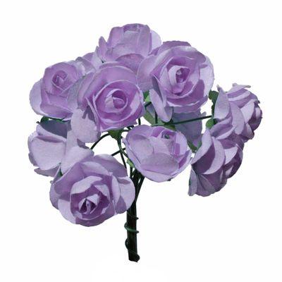 4 Bündel je 12 Rosen Röschen, Länge 7cm, Dekoration, Floristik, Farbe wählbar – Bild 2