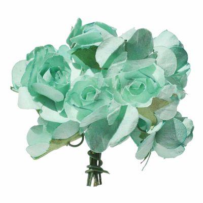 4 Bündel je 12 Rosen Röschen, Länge 7cm, Dekoration, Floristik, Farbe wählbar – Bild 5