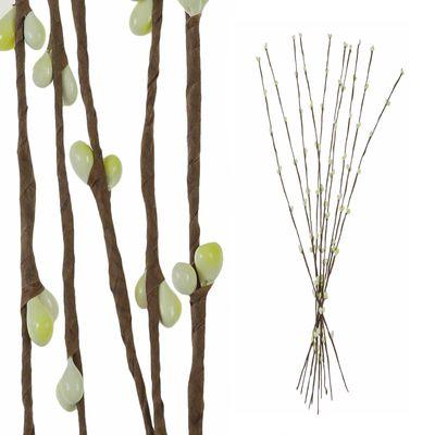 10 Deko Zweige mit Knospen 39cm, Farbwahl - Frühling Floristik Arrangieren – Bild 8