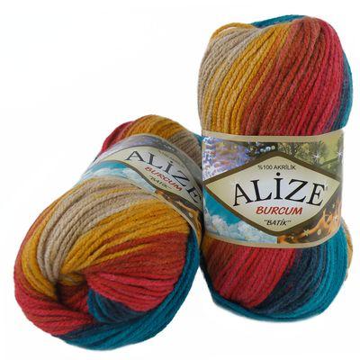 100g  Strickgarn ALIZE BURCUM Batik Strickwolle Handstrickgarn, Farbe wählbar – Bild 10