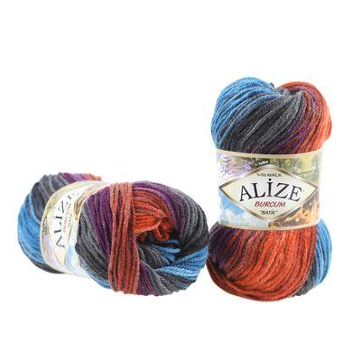 100g  Strickgarn ALIZE BURCUM Batik Strickwolle Handstrickgarn, Farbe wählbar – Bild 4