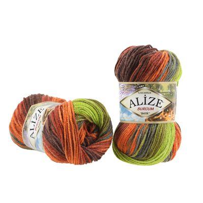 100g  Strickgarn ALIZE BURCUM Batik Strickwolle Handstrickgarn, Farbe wählbar – Bild 2