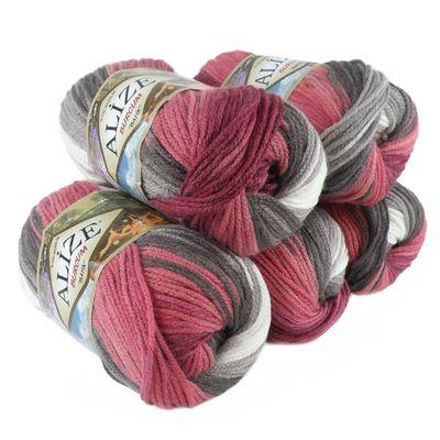 500g Strick-Garn ALIZE BURCUM Batik Strick-Wolle Handstrickgarn, Farbe wählbar – Bild 12