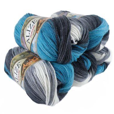 500g Strick-Garn ALIZE BURCUM Batik Strick-Wolle Handstrickgarn, Farbe wählbar – Bild 8