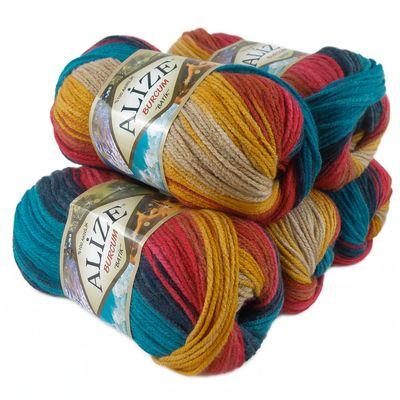 500g Strick-Garn ALIZE BURCUM Batik Strick-Wolle Handstrickgarn, Farbe wählbar – Bild 16