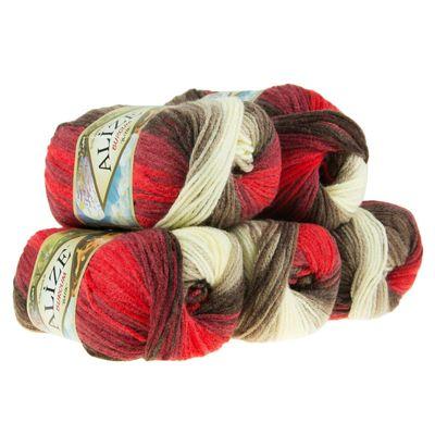 500g Strick-Garn ALIZE BURCUM Batik Strick-Wolle Handstrickgarn, Farbe wählbar – Bild 20