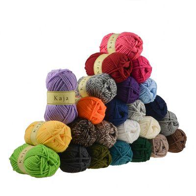 10 x 100g Mützenwolle, Jackenstrickgarn KAJA, 25% Wolle, verschiedene Farben
