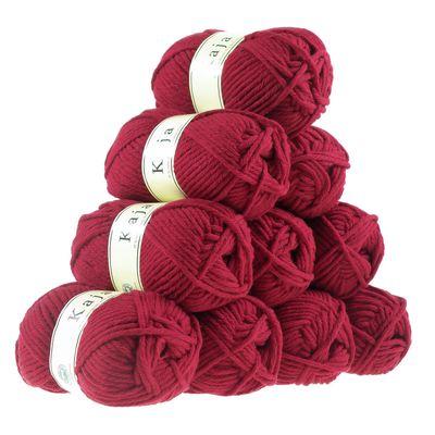 10 x 100g Mützenwolle, Jackenstrickgarn KAJA, 25% Wolle, verschiedene Farben – Bild 15