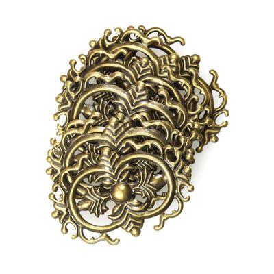 10 filigrane Deko-Ornamente, Verzierungen, Floral, antik bronze, Größe wählbar – Bild 9