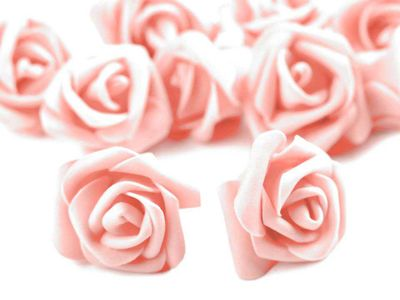 10 Deko-Rose Rosenblüte Rosenkopf 4cm Foamrosen Schaumrosen, Farbwahl – Bild 19