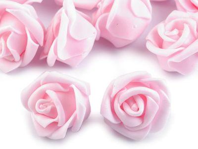 10 Deko-Rose Rosenblüte Rosenkopf 4cm Foamrosen Schaumrosen, Farbwahl – Bild 9