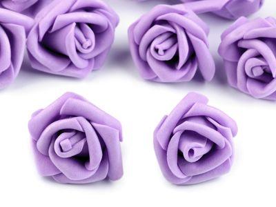10 Deko-Rose Rosenblüte Rosenkopf 4cm Foamrosen Schaumrosen, Farbwahl – Bild 5