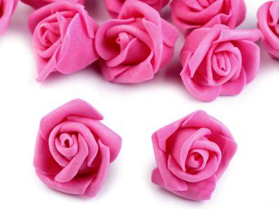 10 Deko-Rose Rosenblüte Rosenkopf 4cm Foamrosen Schaumrosen, Farbwahl – Bild 4