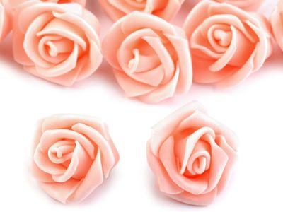 10 Deko-Rose Rosenblüte Rosenkopf 4cm Foamrosen Schaumrosen, Farbwahl – Bild 11