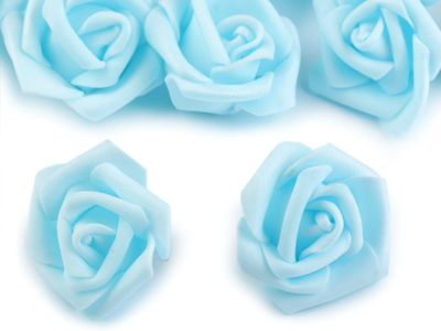 10 Deko-Rose Rosenblüte Rosenkopf 4cm Foamrosen Schaumrosen, Farbwahl – Bild 3