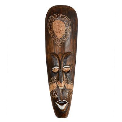 Wandmaske, 50cm, handmade, Dekomaske, Holzmaske, Echtholz, braun