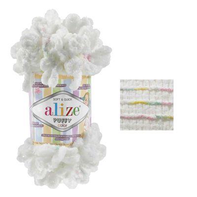 5 x 100g Strickgarn ALIZE Puffy Color, 100% Polyester, verschiedene Farben – Bild 18