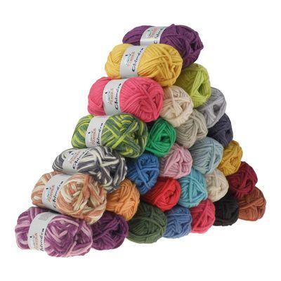 10 x 50g Filzwolle CHIMERA, Wolle zum Strickfilzen, verschiedene Farben