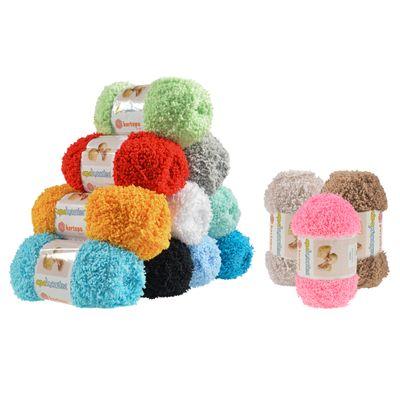 3 verschiedene Farben 10 x 50g Strickgarn ALIZE SOFTY Kuschelwolle Babywolle