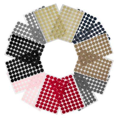 60 Klettpunkte 15mm Klettband-Punkte Klebepunkte Klettverschluss selbstklebend