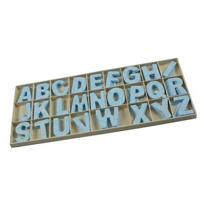 104 Holzbuchstaben 52mm, Holz Buchstaben, Farbwahl, Alphabet sortiert – Bild 2