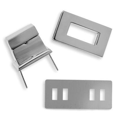 1 Set Metall Mappenverschluss 16x28mm Steck Dreh Verschluss Schloss, Farbwahl