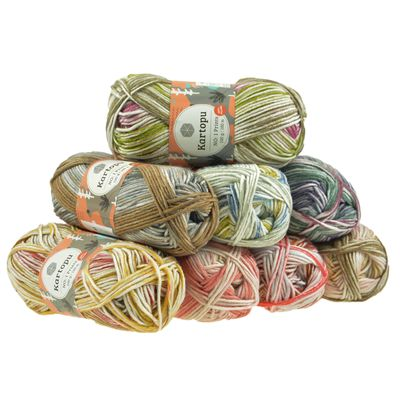 5 x 100g Strickwolle Kartopu NO:1 Prints Acryl-Strickgarn Wolle Anti Pilling