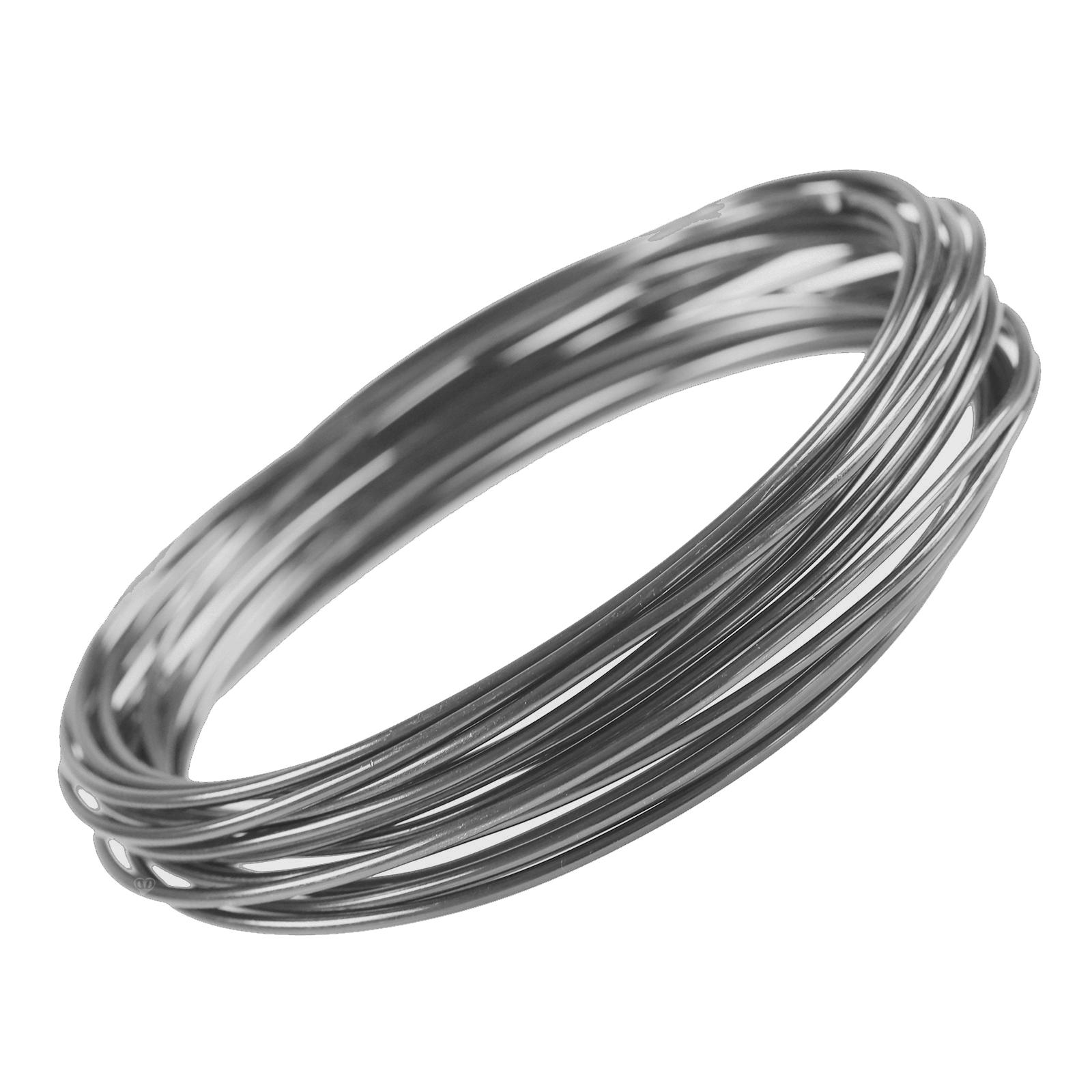 1 Rolle / 5m Aludraht Aluminiumdraht, 2 mm, Farbwahl - biegen ...