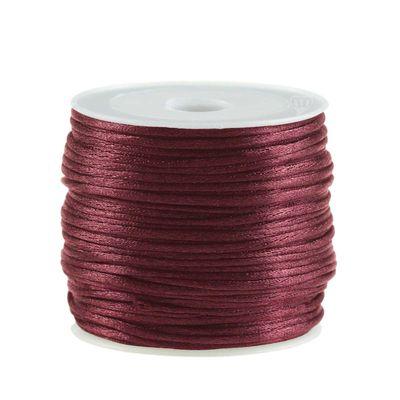 30m Satinschnur Flechtkordel Kumihimo 1mm, Farbwahl verschiedene Farben – Bild 22