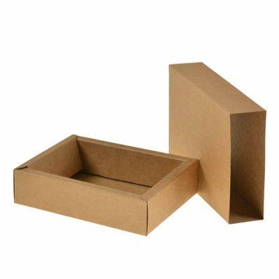 5 Pappe Geschenk-Schachteln, rechteckig, 12,8x9,8cm, braun, Boxen Kästchen Kiste – Bild 1