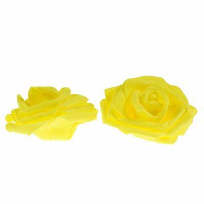 2 Rosen Ø 9cm, Farbe wählen - Dekoration Kunstrose Schaumgummi Floristik – Bild 2