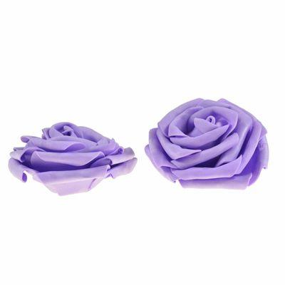 2 Rosen Ø 9cm, Farbe wählen - Dekoration Kunstrose Schaumgummi Floristik – Bild 4