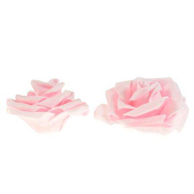 2 Rosen Ø 9cm, Farbe wählen - Dekoration Kunstrose Schaumgummi Floristik – Bild 6
