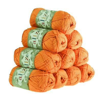 10 x 50g Baumwollstrickgarn ALIZE BELLA uni, verschiedene Farben – Bild 23