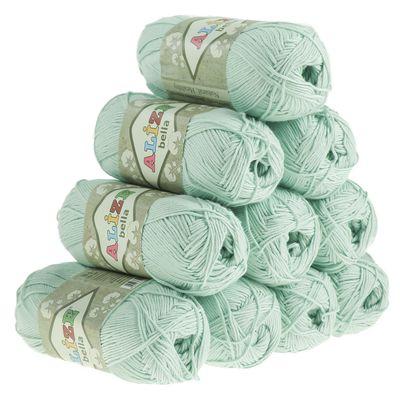 10 x 50g Baumwollstrickgarn ALIZE BELLA uni, verschiedene Farben – Bild 12
