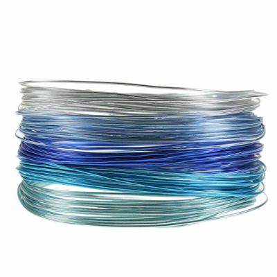 25m Set Aluminiumdraht 1mm in 5 Farben (je 5m) Aludraht Dekodraht Schmuckdraht  – Bild 3