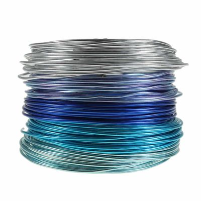 25m Basteldraht Aluminiumdraht 2mm 5 Farben (je 5m) Floristik-Draht Bindedraht Aludraht Set – Bild 3