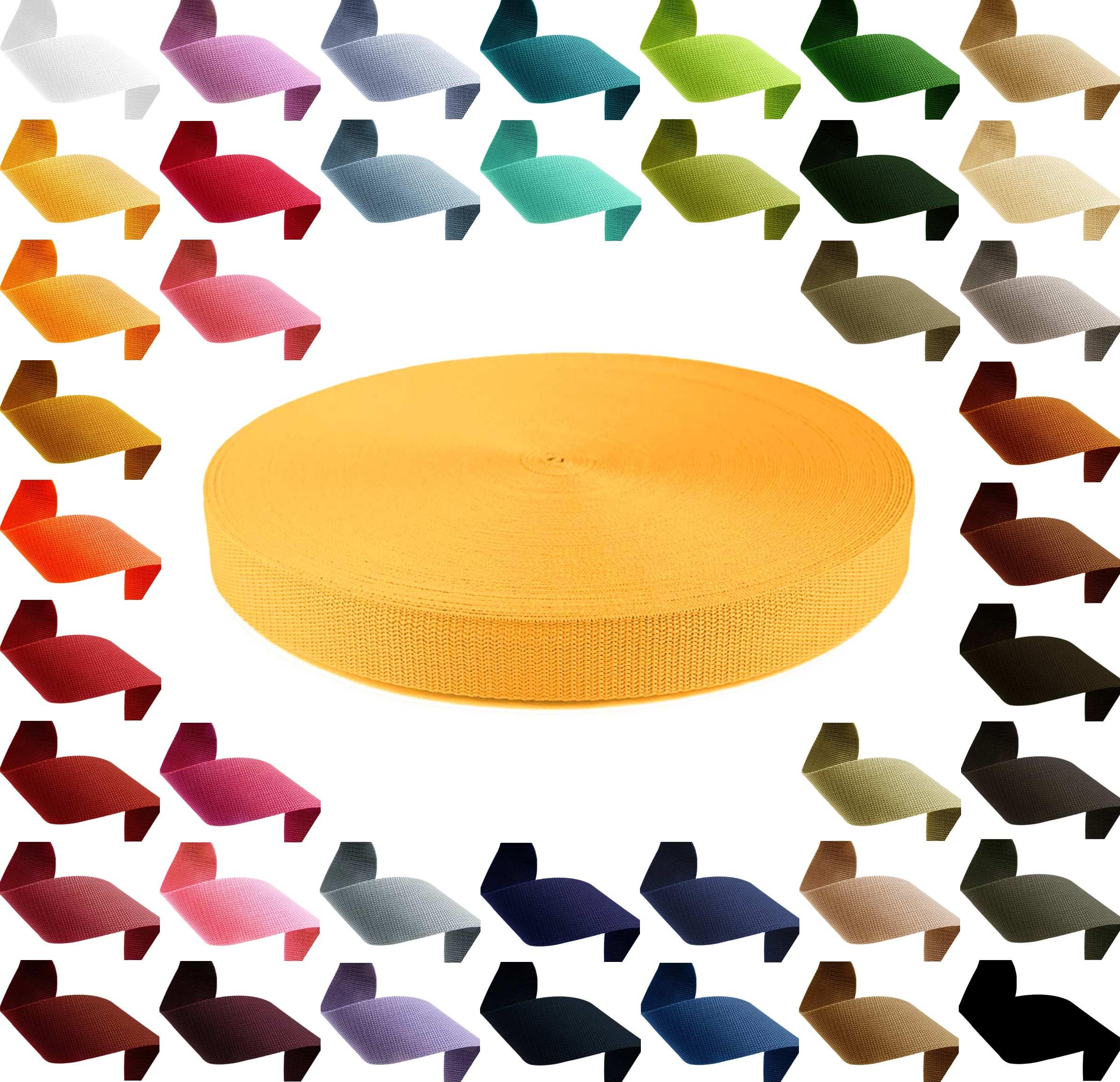 12m PP Gurtband, Polypropylen, 30mm breit, 1,3mm stark, Farbwahl – Bild 3