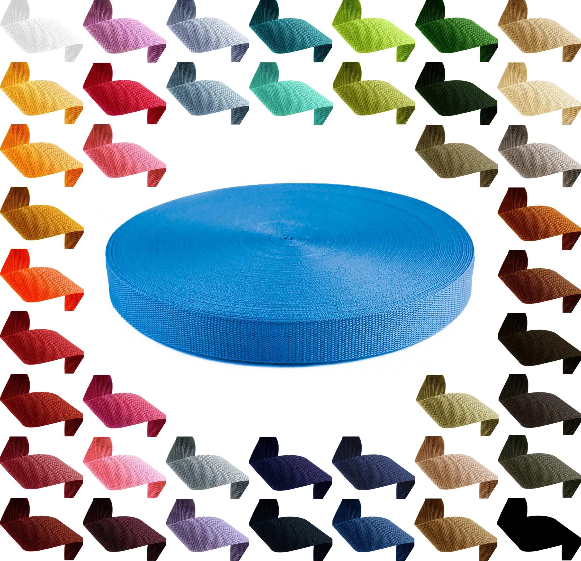 12m PP Gurtband, Polypropylen, 30mm breit, 1,3mm stark, Farbwahl – Bild 13